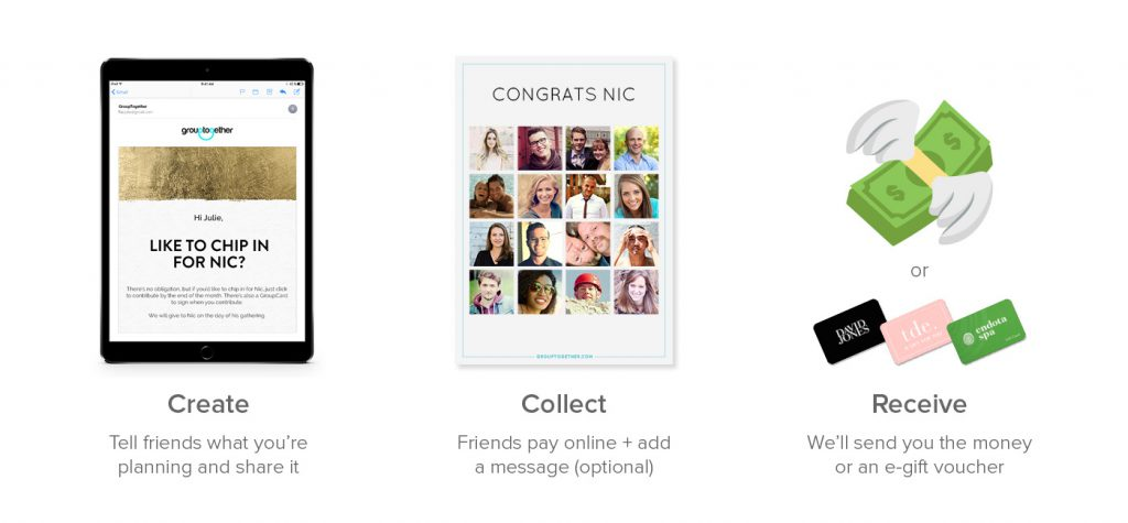 Grouptogether lets you organise a group gift online