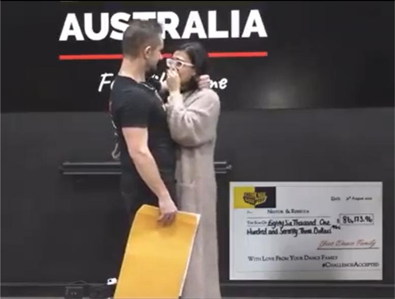 Nestor receives cheque for $86,000