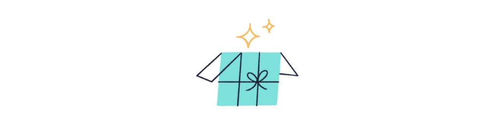 Gift box opening