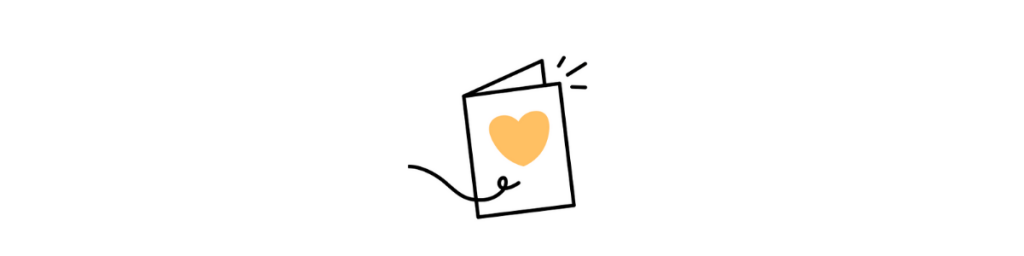 Card with love heart