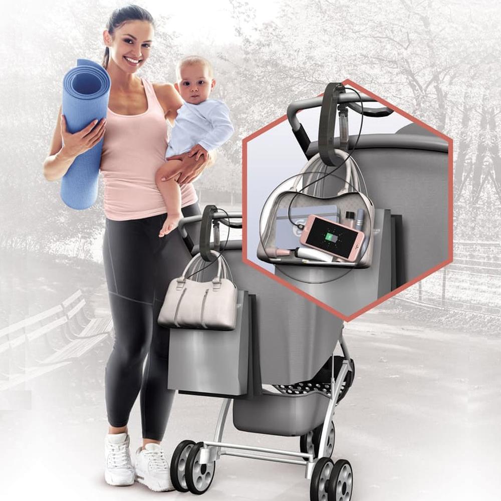 Mommy Power Stroller Hook & Power Bank