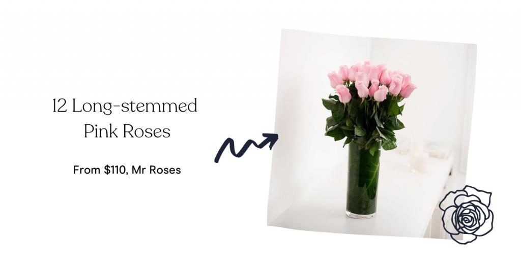 Mr Roses 12 Long-stemmed Pink Roses