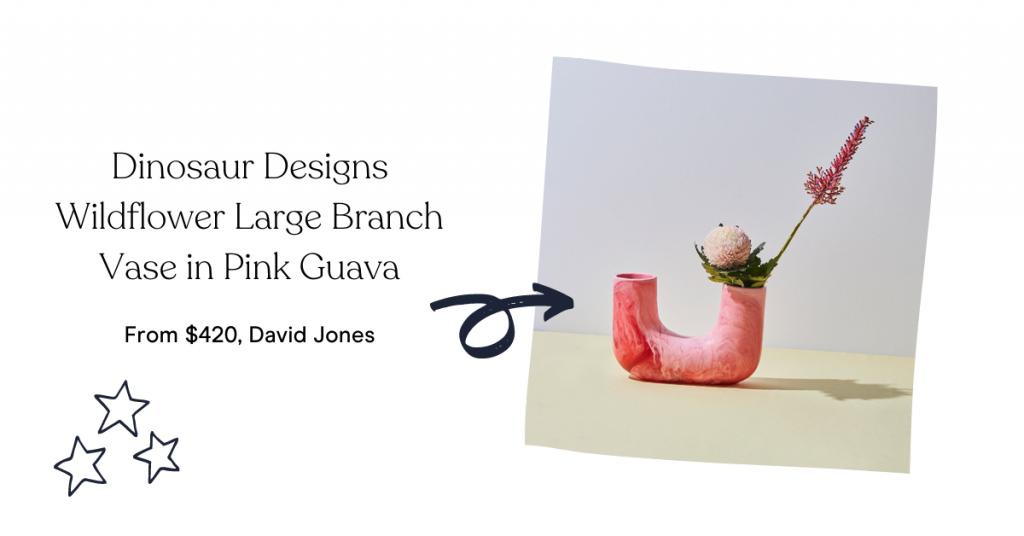 Dinosaur Designs Wildflower Large Branch Vase in Pink Guava