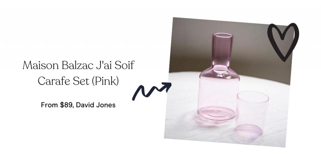 Maison Balzac J'ai Soif Carafe Set (Pink)